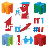 Number one (vector collection) Stock Photo