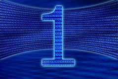 Number one in virtual cyberspace Royalty Free Stock Images
