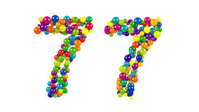 Number 77 over white background Stock Image