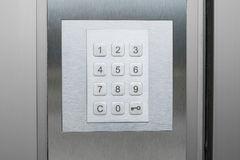 Number pad on door - number keypad closeup. Number pad on door , number keypad on door Royalty Free Stock Photography