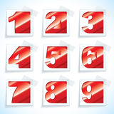 Number paper red tags Royalty Free Stock Images