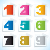 Number paper tags Royalty Free Stock Photos