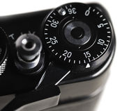 Number 2015 on part of a retro film camera Royalty Free Stock Photography