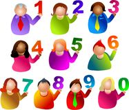 Number people Stock Images