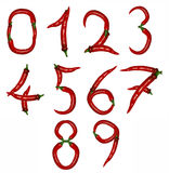 Number of peppers Royalty Free Stock Photography
