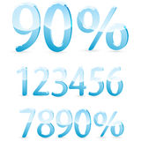 Number and percent Royalty Free Stock Image