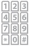 Number phone keypad Royalty Free Stock Image