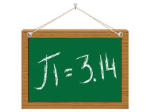 Number pi on chalkboard Royalty Free Stock Photo