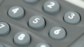 Number pins of a calculator stock video footage