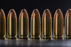 Number pistol cartridge 9 mm caliber Royalty Free Stock Images