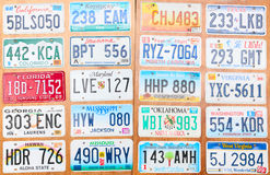 Number Plates Stock Photo