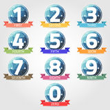 Number with polygon label. Vector Royalty Free Stock Photos