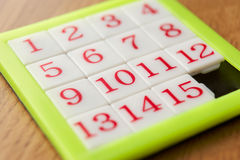 Number puzzle. Green, white and red number puzzle Royalty Free Stock Photos