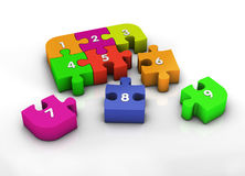 Number in puzzle Royalty Free Stock Photography