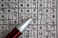 Number puzzle Stock Photo