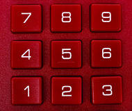 Number on red calculator Royalty Free Stock Photo