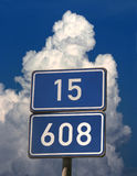 Number road signs Stock Photo
