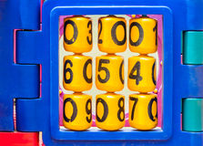 Number roll. Of colorful toy in the playground Royalty Free Stock Photos