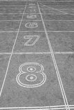 Number on the running lane Royalty Free Stock Photography