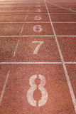 Number on running track Royalty Free Stock Images