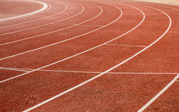 Number on running track Royalty Free Stock Photo