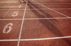 Number on running track Royalty Free Stock Image
