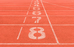 Number on running track background Royalty Free Stock Image