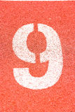 Number on the running track Stock Images