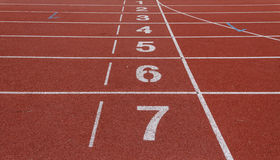 Number of running track Stock Photos
