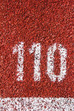 Number on the running track Stock Photography