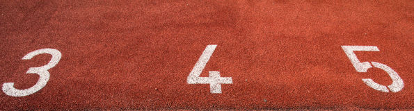 Number on the running track Stock Photos