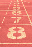 Number on running track vintage background Royalty Free Stock Photo