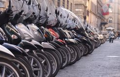 Number of scooters Stock Photos