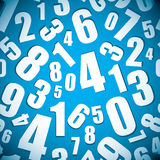 Number seamless background Royalty Free Stock Photo