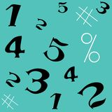 Number seamless pattern stock photos