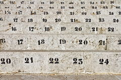 Number of seats in the arena Stock Image