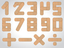 Number set from 0 to 9 plus other mathematical signs Stock Image