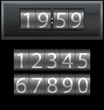 Number set from 1 to 9, digital clock, dark Royalty Free Stock Photo