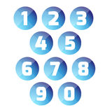 Number set button Royalty Free Stock Photo