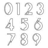 Number set design Stock Images