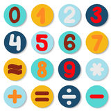 Number set drawing. info graphics element.  Royalty Free Stock Image