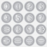 Number set drawing. info graphics element.  Stock Photo