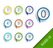 Number set of globe pointers. Stock Photography