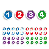 Number set label vector Royalty Free Stock Photography