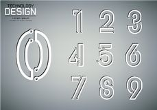 Number set of numbers technology lamp concept Stock Photography