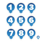 Number set round with arrow Stock Photography