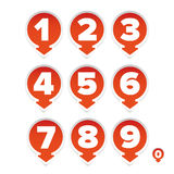 Number set round with arrow Stock Images