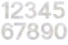 Number set silver fiber Royalty Free Stock Photography
