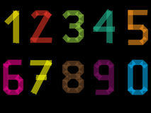 Number set from 1 to 9 including 0 Stock Photos