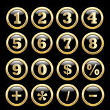 Number set from 1 to 9 Royalty Free Stock Images